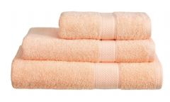Peach 100% Cotton Turkish Ringspun Towel 500 Gsm